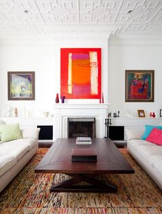 Living room - Interior designs for your home Home Living Room, Living Room Designs, Living Spaces, Home Interior Design, Interior Decorating, Classic Fireplace, Small Room Decor, Room Colors, Decoration