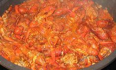 Las comidas de casa: Cangrejos de río en salsa de tomate picante