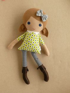 Reserved for Lori Fabric Doll Rag Doll Light Brown by rovingovine