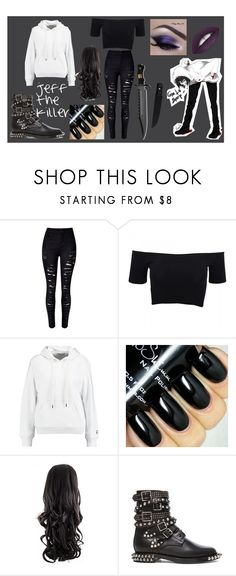 """""""jeff the killer"""" by carmen-41-navarro on Polyvore featuring American Apparel, T By Alexander Wang, Yves Saint Laurent, women's clothing, women, female, woman, misses and juniors"""