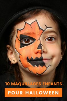 Halloween make-up kids - 13 scary awesome and simple .- Halloween Schminkideen Kinder – 13 unheimlich tolle und einfache Ideen Halloween make-up kids – 13 awesome great and simple ideas – pumpkin lantern – face painting - Deer Face Paint, Mermaid Face Paint, Pumpkin Face Paint, Pumpkin Painting, Witch Face Paint, Halloween Face Paint Scary, Halloween Makeup For Kids, Halloween Makeup Looks, Family Halloween