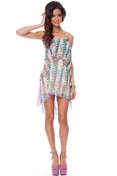 Spring Lines Dress in Multi $30 at www.tobi.com