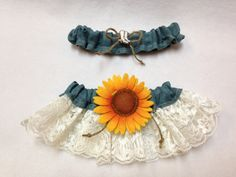 All is denim Custom Made/Made to order Garter Set – Rustic, Western Denim Colored Burlap, lace Bridal Garter Set, Wedding Garter Set by HaHoneyTreasures on Etsy