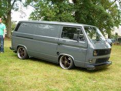 Bus Camper, Vw Bus T3, Transporter T3, Volkswagen Transporter, Custom Camper Vans, Custom Vans, Vw T3 Tuning, Porsche Wheels, T3 Doka