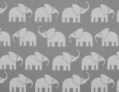 Hochwertiger Elefanten Stoff Retro XL 160 cm breit von Funky-Monkey auf DaWanda.com