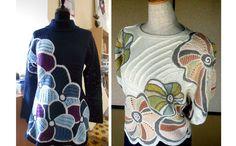 Пуловер с элементами фриформа
