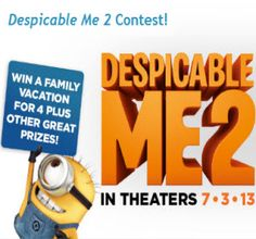 Win a Trip to Punta Cana & a Despicable Me 2 Game Prize!