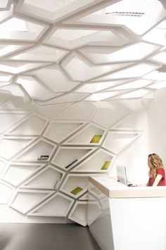 Shelf + Ceiling + decorate = HELIX = Beautiful Flexible Furniture System