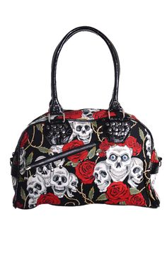 Skull Rose Handbag. Dare I get this to go with the dress? My BF has a shirt in the same fabric!