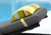 Custom Headrest Pillows Bolster Pillow, Neck Pillow, Pillows, Coordinating Fabrics, Different Fabrics, Screened In Porch Furniture, Sun Lounger Cushions, Can Design, Velcro Straps