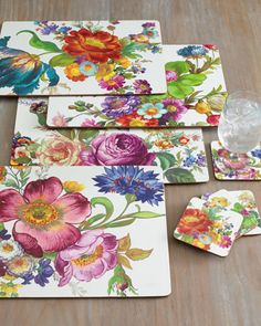 MacKenzie-Childs Four Flower Market Placemats