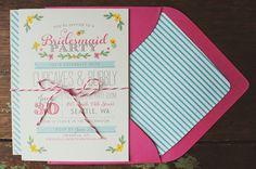 Whimsy Bridesmaid Party Invitation DIY PRINTABLE