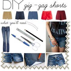 zig-zag shorts