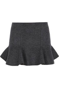 Get dressed / Isabel Marant Freja merino wool-felt mini skirt