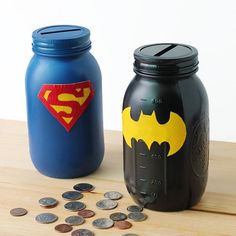 Get kids saving, spending, and giving with these adorable Superhero Banks!