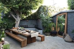 Some outdoor shopping in LA # sponsored ., A little outdoor shopping in LA # sponsored When historic inside concept, the pergola is suffering from a modern day rebirth these types of days. Large Backyard, Backyard Garden Design, Backyard Patio, Backyard Landscaping, Wood Patio, Outdoor Wood Tiles, Urban Garden Design, Flagstone Patio, Concrete Patio