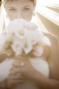 Romantic Sunset Bridal Portrait