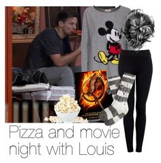 """Pizza and movie night with Louis"" by style-with-one-direction ❤ liked on Polyvore"