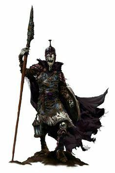 Skeleton Warrior   - Pathfinder PFRPG DND D&D d20 fantasy