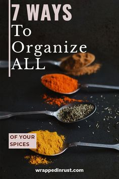 If you really want to organize the kitchen, you should really think about making spice organization part of the plan. Here are my favorite spice organization DIY projects. Kitchen Cupboard Organization, Countertop Organization, Small Kitchen Storage, Spice Organization, Small Space Organization, Organizing Ideas, No Pantry Solutions, Diy Cleaning Products, Diy Projects
