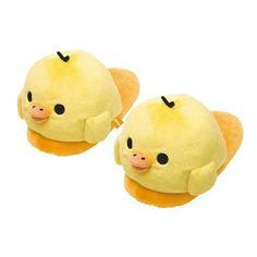 San-x Rilakkuma Kiiroitori Jumbo Plushy Slippers
