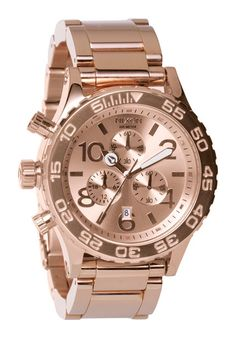 Womens -Nixon 42-20 Chrono in Rose Gold