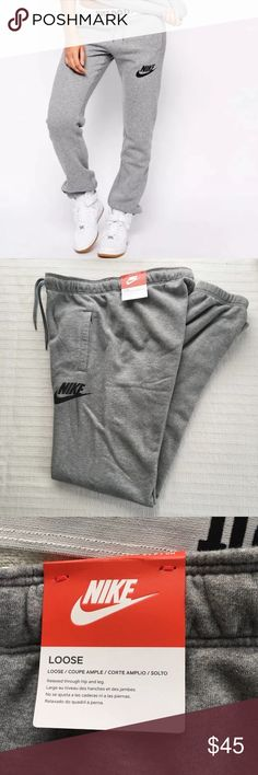Women's Nike Rally Loose Sweatpants Gray Women's Nike Rally Loose Sweatpants Gray Style/Color: 545755-091  • Women's size Large  • NEW with tags • No trades •100% authentic Nike Pants Track Pants & Joggers