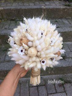 Long-lasting Haretail Bouquets (Lagurus): Ideas for Inspiration 2 Diy Flowers, Pretty Flowers, Flower Decorations, Wedding Decorations, Dried Flower Bouquet, Flower Bouquet Wedding, Bride Bouquets, Floral Arrangements, Marie