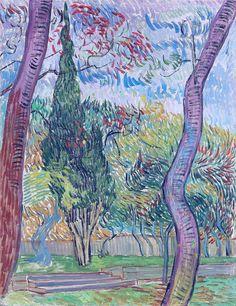 The Garden of the Saint-Paul Hospital, 1889. Vincent van Gogh
