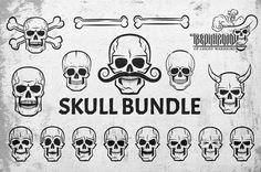 Skull bundle by DreamBikeShop on @creativemarket