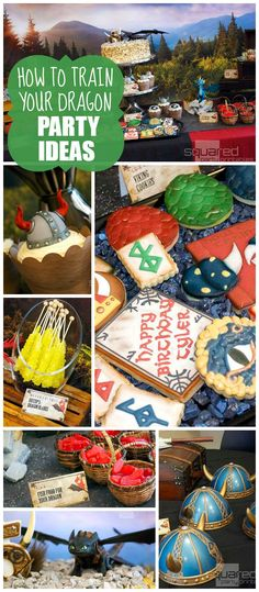 A How to Train Your Dragon movie themed boy birthday party with dragon training and dragon egg favors! See more party planning ideas at CatchMyParty.com!