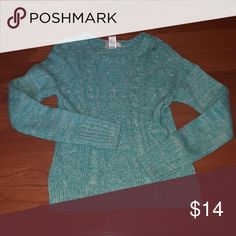 Blue and white sweater Blue and white mixed long sleeve sweater SO Sweaters