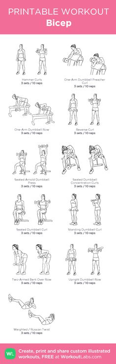 Bicep Easy Workouts, At Home Workouts, Gym Plans, Mommy Workout, Mental Training, Printable Workouts, Postnatal Workout, Biceps Workout, I Work Out