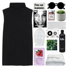 """don't you test me though"" by starry-skies-in-the-city ❤ liked on Polyvore featuring The Row, H&M, Frette, KEEP ME, Married to the Mob, Retrò and country"