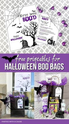 Say BOO to germs with this Boo Basket to BOO the neighbors this Halloween! Use these free Halloween printables to help keep surprises spreading across the neighborhood! #boobasket #halloweengift #booprintable