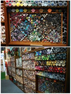 The Button Emporium & Ribbonry in downtown Portland, Oregon (great selection of high quality ribbon)~Images by Tango Mango