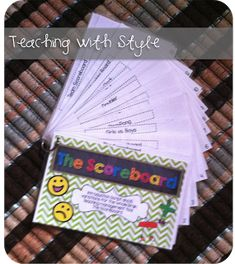 Whole Brain Teaching With Style: Book Club - Chapter 11 The Scoreboard Brain Based Learning, Whole Brain Teaching, Teaching First Grade, First Grade Classroom, Future Classroom, School Classroom, Classroom Ideas, Classroom Behavior Chart, Reading Task Cards