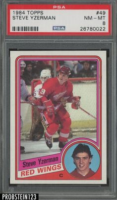 1984 Topps Hockey  49 Steve Yzerman Detroit Red Wings PSA 8 NM-MT 24cae525edbc