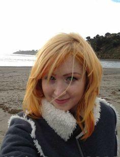 Blonde - orange / tangerine Wavy beach hair