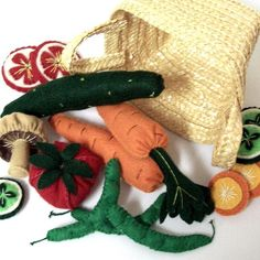 (9) Name: 'Sewing : Felt Vegetables Pattern Veggies Slices
