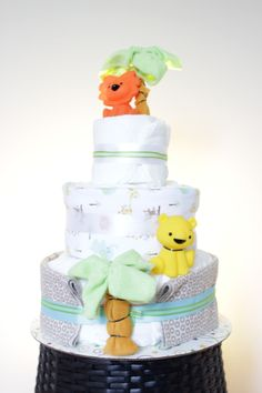 custom made diaper cakes, towel cakes, party favours located in ajax (durham region) Favours, Party Favors, Towel Cakes, Diaper Cakes, Safari, Gifts, Favors, Diaper Bouquet, Presents