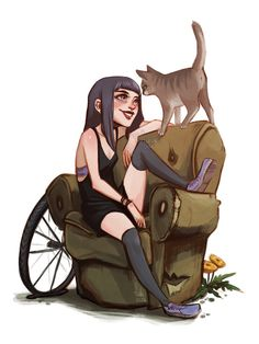 Off is a werecat and that's why she atracts all enarby cats, even the stray ones want to say 'hi' and be petted. and what's the story behind that old armchair? here's a little bg story: as you reme...