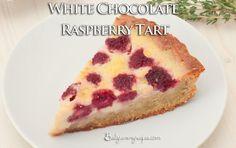 White Chocolate and Raspberry Tart - bestyummyrecipes.com
