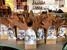 Reindeer Gift Bags (from Inquiring Minds: Mrs. Myers' Kindergarten)