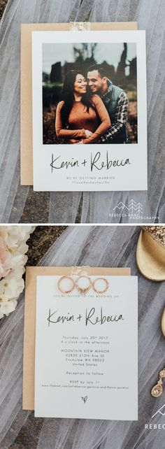 Kevin & Rebecca's Wedding | Photo Wedding Invitations from For the Love of Stationery | Rebecca Anne Photography