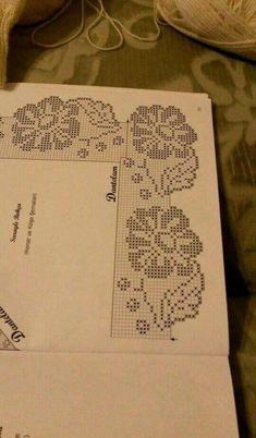S Media Cache Originals 43 Crochet Edging Patterns, Filet Crochet Charts, Crochet Borders, Baby Knitting Patterns, Crochet Designs, Crochet Stitches, Crochet Curtains, Crochet Tablecloth, Crochet Dollies