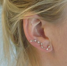Constellation Ear Pin Silver Earrings Big Dipper by accessoreese, $29.00! Seriously, sisters, I want these!