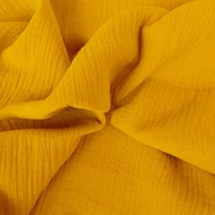 Tissu double gaze - curry x 10 cm Le Double, Creation Couture, Antelope Canyon, Curry, Mustard, Fabrics, Curries