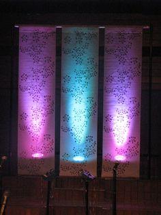 Ikea curtain panels NHC summer set design.