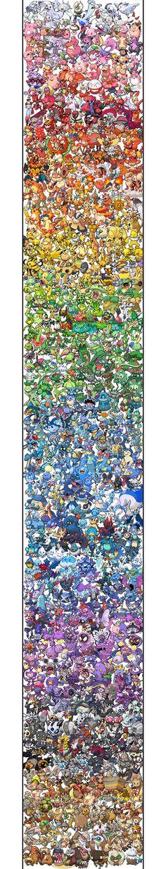 Pokemon Sprite Spectrum | All 649 Pokemon